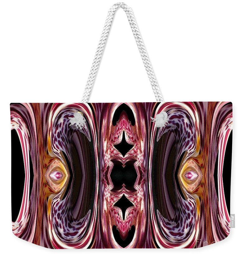 Mccombie Weekender Tote Bag featuring the painting Empress Abstract by J McCombie