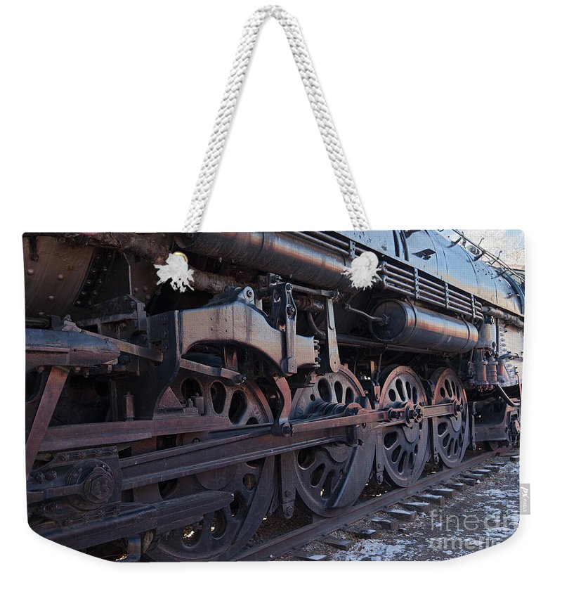 Colorado Weekender Tote Bag featuring the photograph Engine 5629 In The Colorado Railroad Museum by Fred Stearns