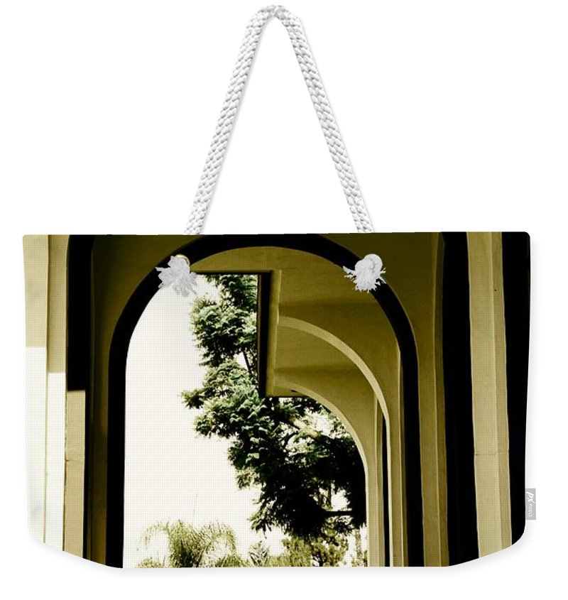 Hallway Weekender Tote Bag featuring the photograph Entrance by Athala Carole Bruckner