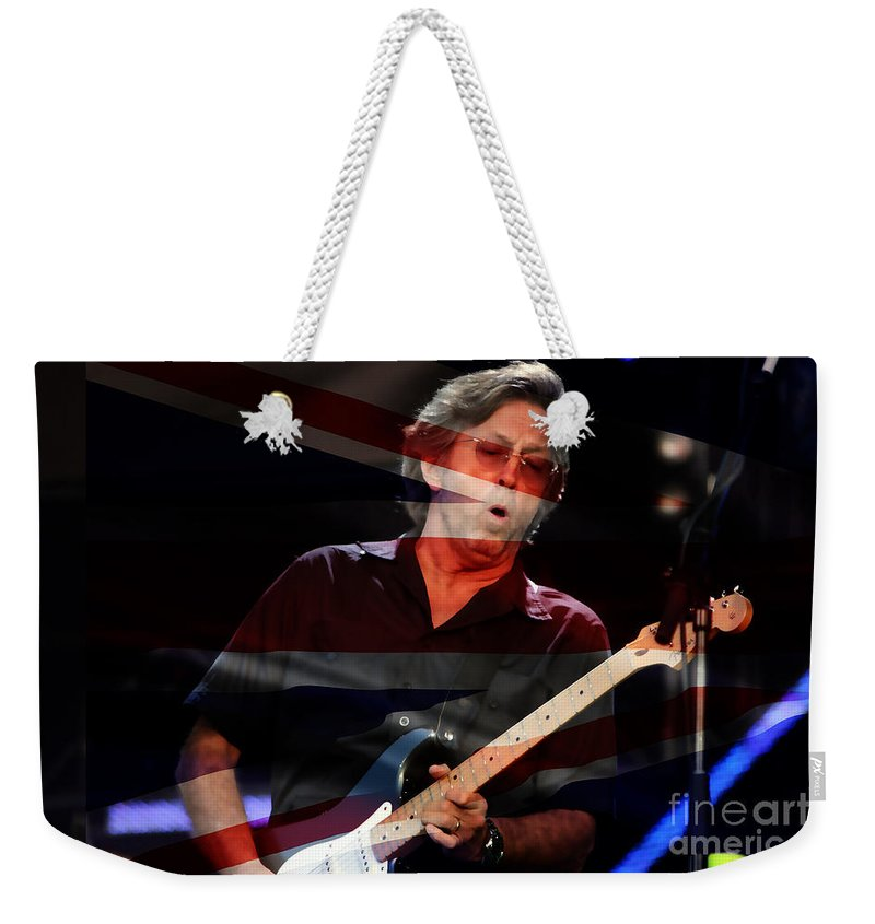 Teric Clapton Photographs Mixed Media Weekender Tote Bag featuring the mixed media Eric Clapton by Marvin Blaine