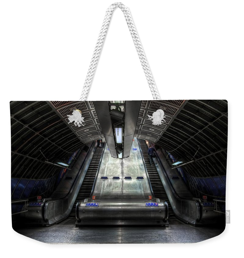 Architecture Weekender Tote Bag featuring the photograph Escalator by Svetlana Sewell