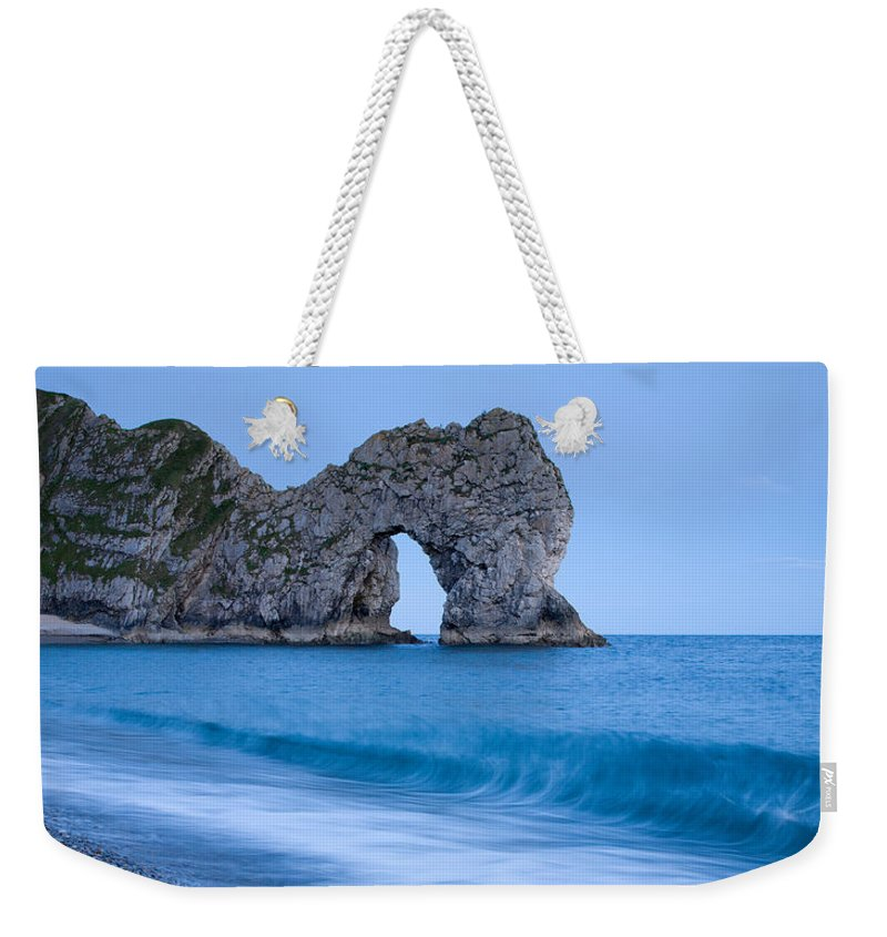 Durdle Weekender Tote Bag featuring the photograph Evening At Durdle Door by Ian Middleton