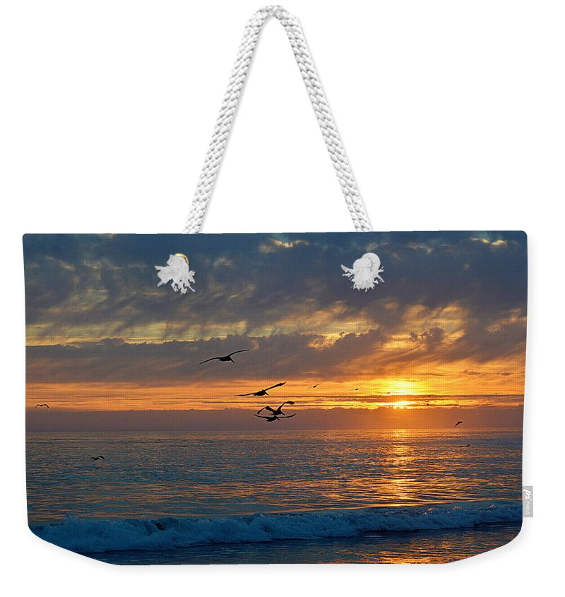 Scenic Weekender Tote Bag featuring the photograph Eventide by AJ Schibig