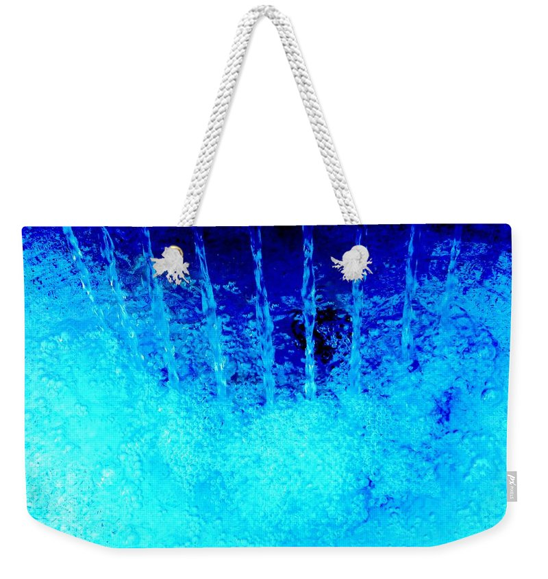 Color Weekender Tote Bag featuring the photograph Falling Water by Amar Sheow