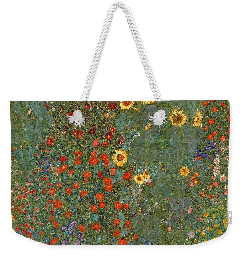 Red Sunflower Weekender Tote Bags