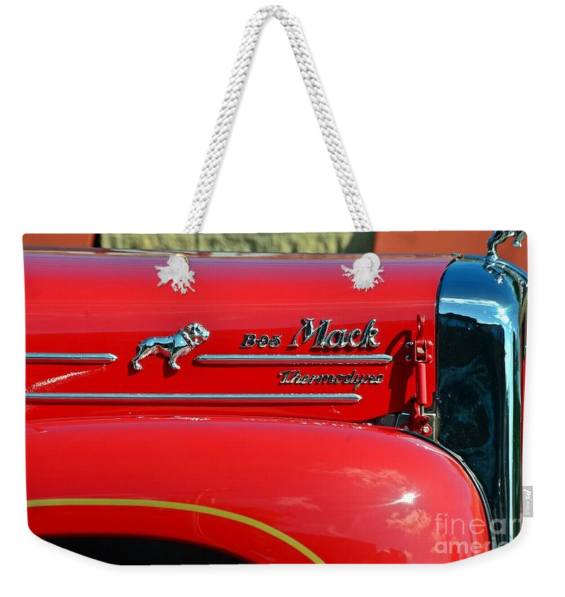 Fire Truck Weekender Tote Bag featuring the photograph Fire Truck by Randy J Heath