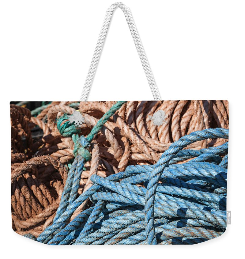 Ropes Weekender Tote Bag featuring the photograph Fishing Ropes by Elena Elisseeva