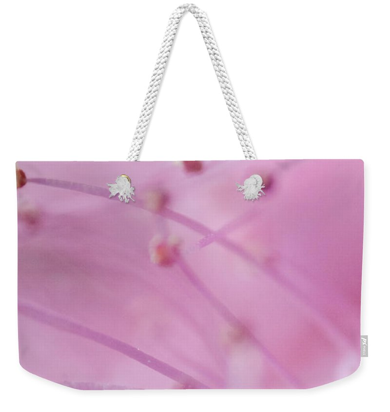 Floral Weekender Tote Bag featuring the photograph Flower by Dan Radi