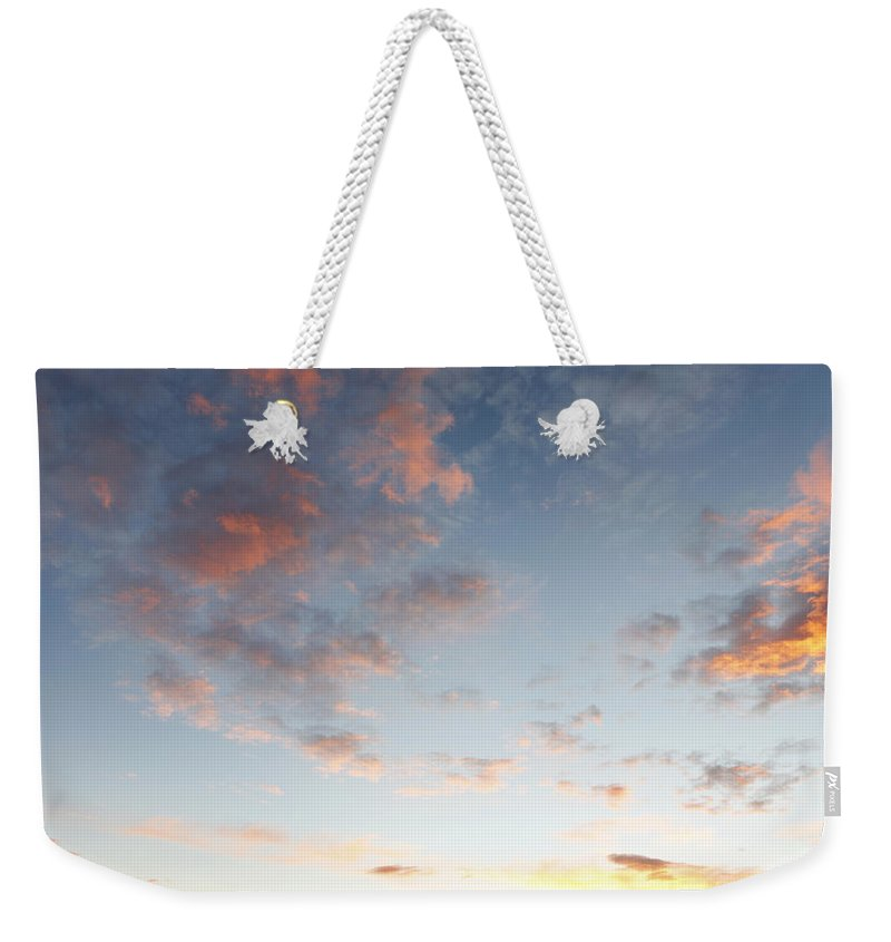 Fluffy Weekender Tote Bag featuring the photograph Fluffy Clouds by Les Cunliffe