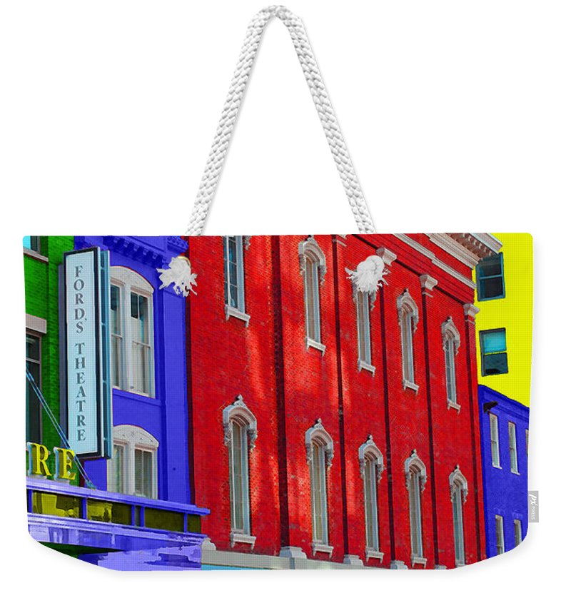 Ford Weekender Tote Bag featuring the photograph Fords Theatre by Jost Houk