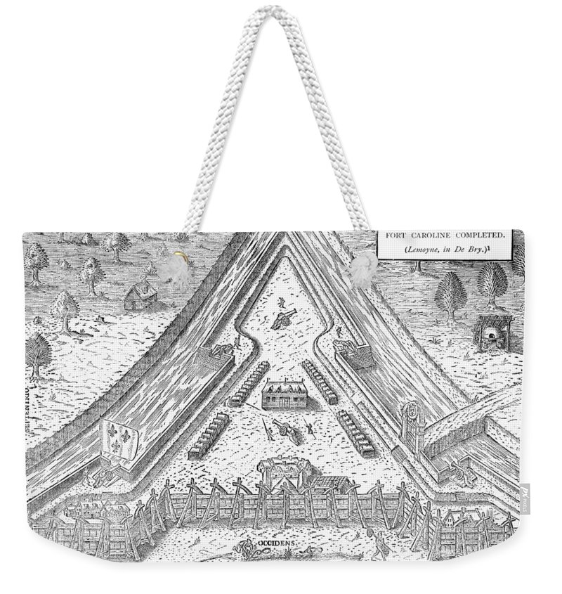 1564 Weekender Tote Bag featuring the photograph Fort Caroline, 1564 by Granger