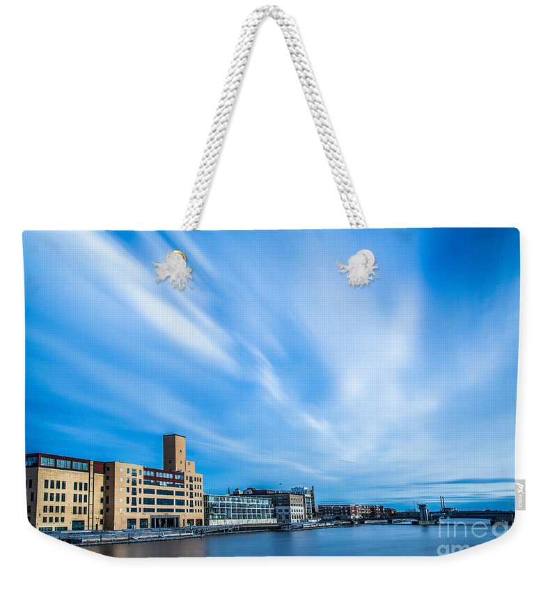 Bigstopper Weekender Tote Bag featuring the photograph Fox River by Andrew Slater