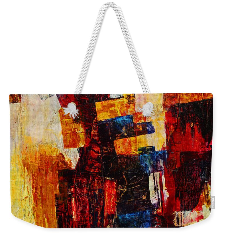 Free Weekender Tote Bag featuring the mixed media Free Falling by Cindy Johnston