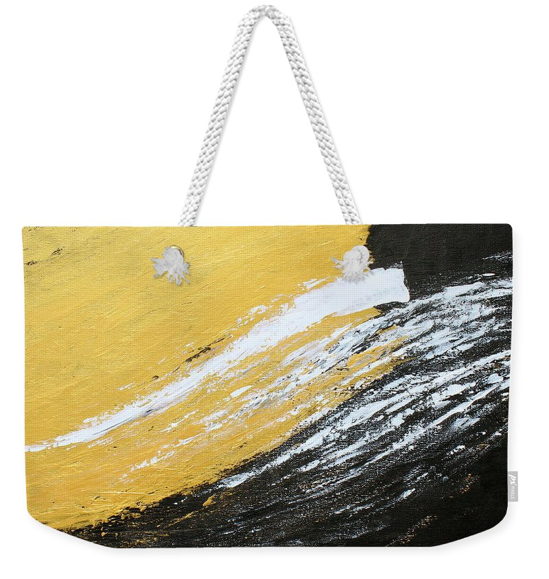 Gold Weekender Tote Bag featuring the painting Free Spirit 2 by Kume Bryant