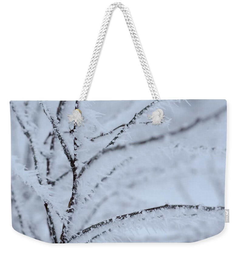 Winter Weekender Tote Bag featuring the photograph Frost by TouTouke A Y