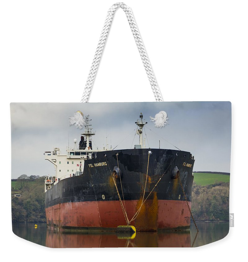Transport Weekender Tote Bag featuring the photograph Fsl Hamburg by Brian Roscorla