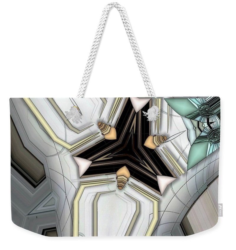 Abstract Weekender Tote Bag featuring the digital art Game Board by Ron Bissett