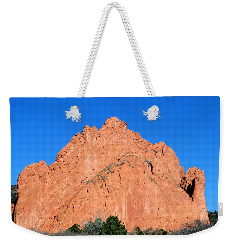 Garden Of The Gods Weekender Tote Bag featuring the photograph Garden Of The Gods by Pam Romjue