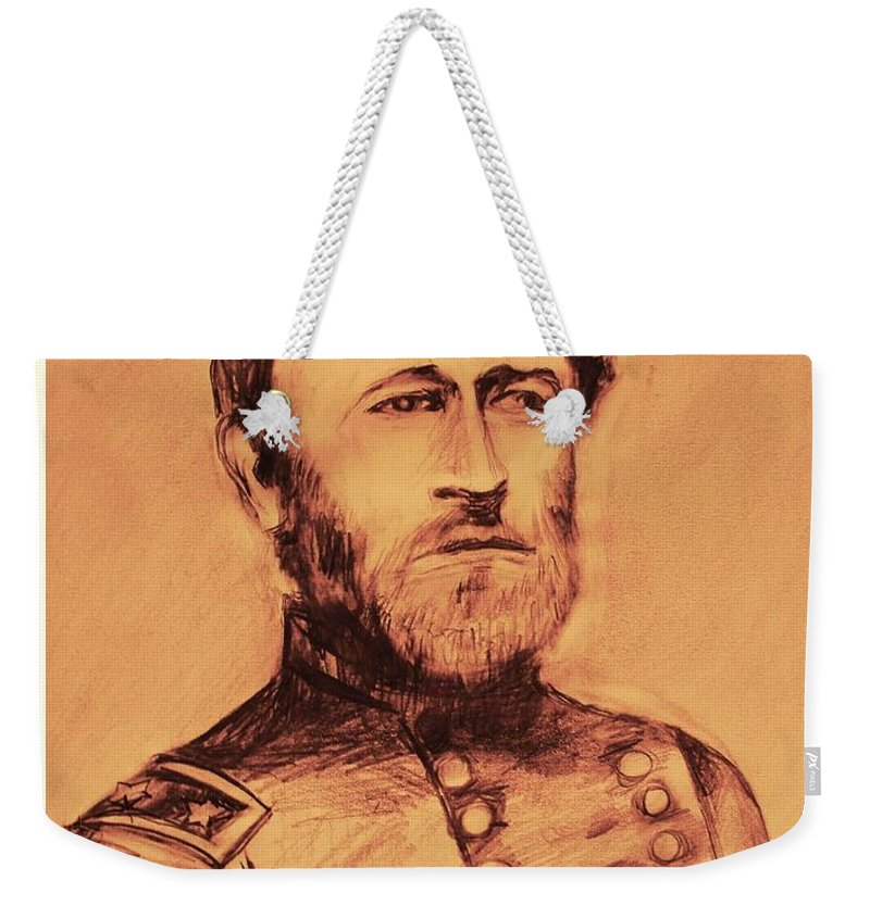 Grant Weekender Tote Bag featuring the painting General Us Grant by Eric Schiabor