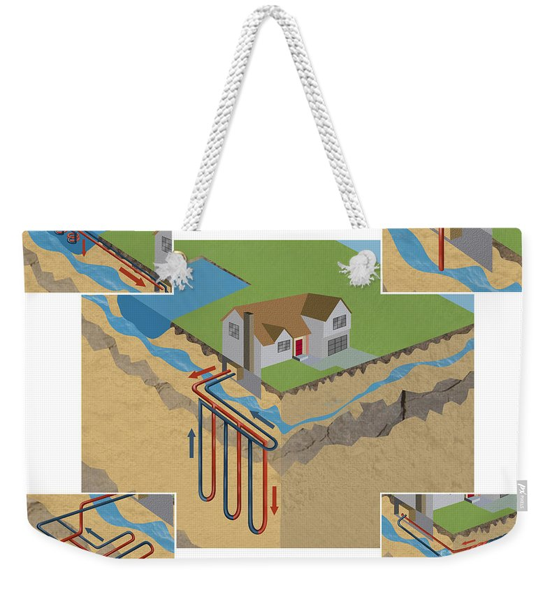 Air Conditioning Weekender Tote Bag featuring the photograph Geothermal Heat Pumps by Gwen Shockey