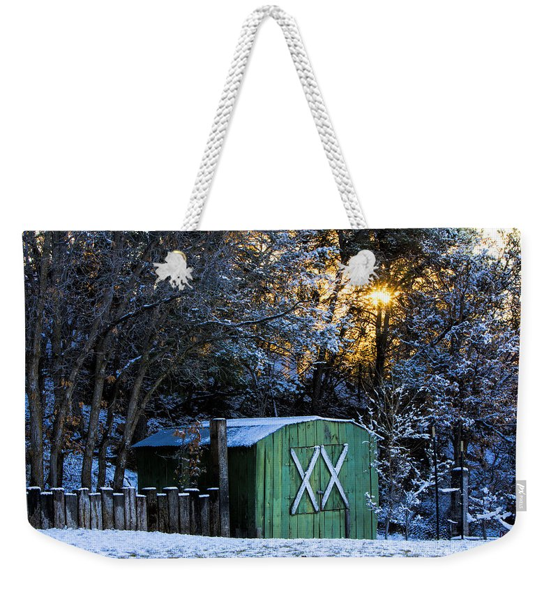 Sunset Weekender Tote Bag featuring the photograph Golden Sunset by Diana Powell
