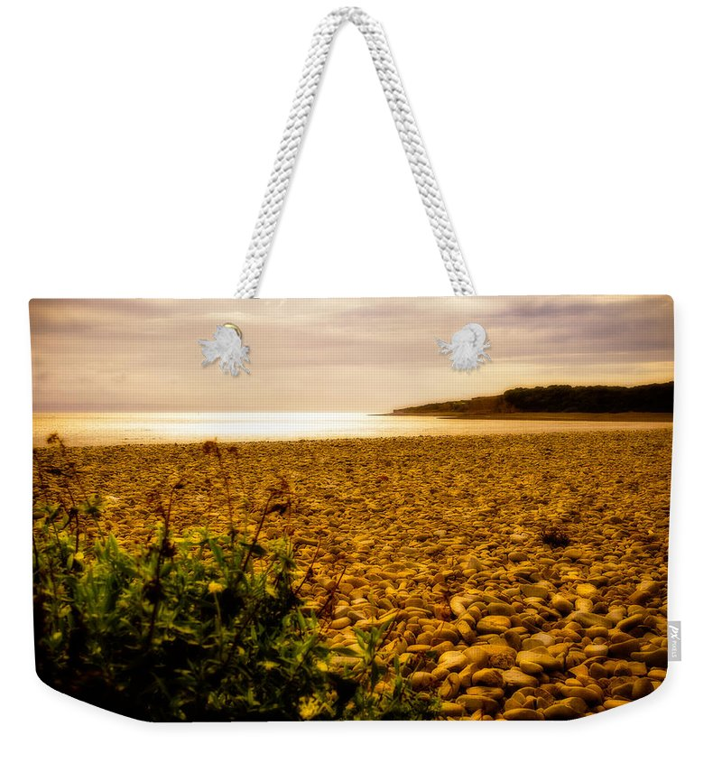 Barry Weekender Tote Bag featuring the photograph Golden Sunset by Mark Llewellyn