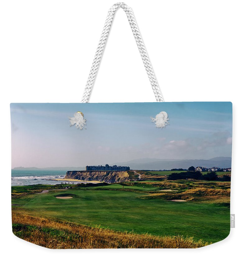 Golf Course Weekender Tote Bag featuring the photograph Golf Course On Half Moon Bay by Mountain Dreams