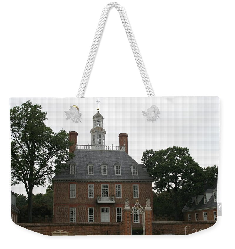 Palace Weekender Tote Bag featuring the photograph Governers Palace Colonial Williamsburg by Christiane Schulze Art And Photography