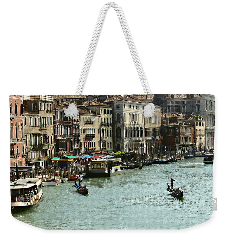 Grand Canal Weekender Tote Bag featuring the photograph Grand Canal by Ellen Henneke