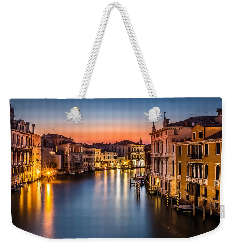 Canal Weekender Tote Bag featuring the photograph Grand Canal by Mihai Andritoiu