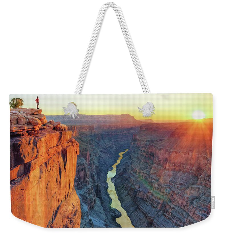 Scenics Weekender Tote Bag featuring the photograph Grand Canyon, Toroweap Lookout by Michele Falzone