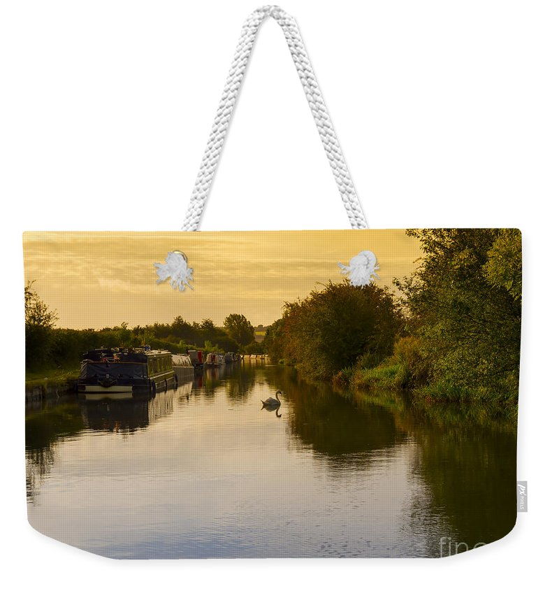 Grand Union Weekender Tote Bag featuring the photograph Grand Union Canal In Berkhampsted by Louise Heusinkveld