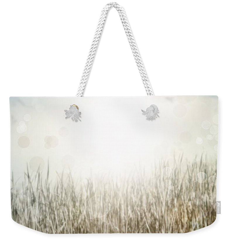 Backgrounds Weekender Tote Bag featuring the photograph Grass And Sky by Les Cunliffe