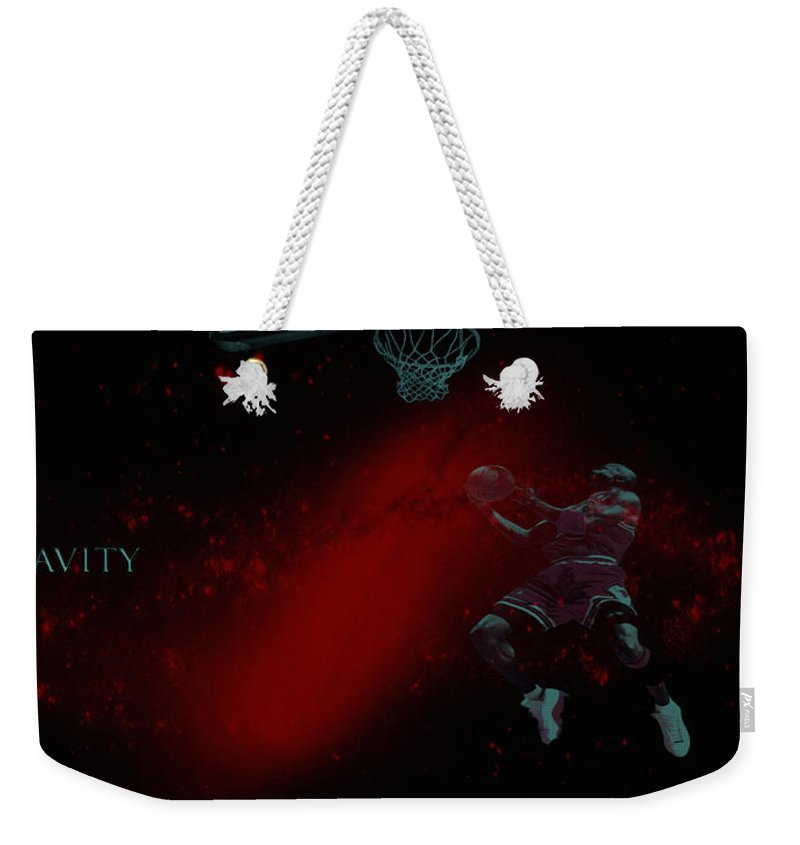 Professional Basketball Player Weekender Tote Bag featuring the mixed media Gravity by Brian Reaves