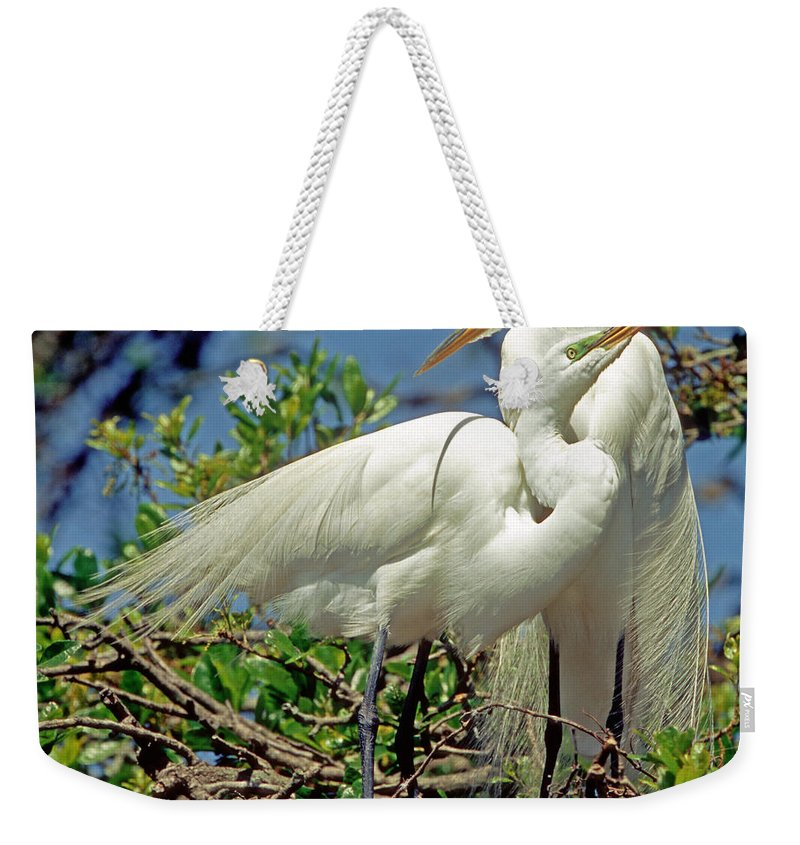 Fauna Weekender Tote Bag featuring the photograph Great Egret by Millard H Sharp