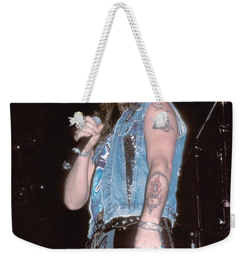 Heavy Metal Weekender Tote Bag featuring the photograph Great White by Concert Photos