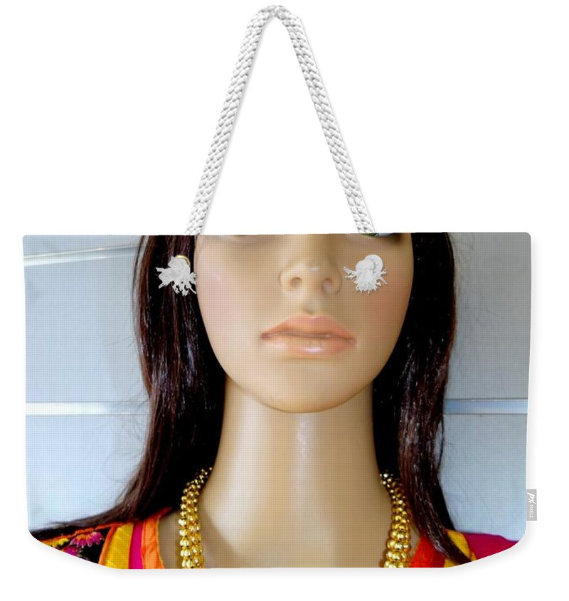 Mannequins Weekender Tote Bag featuring the photograph Green Eyes by Ed Weidman