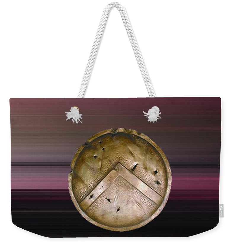 Home Mixed Media Weekender Tote Bag featuring the mixed media Hercules by Marvin Blaine