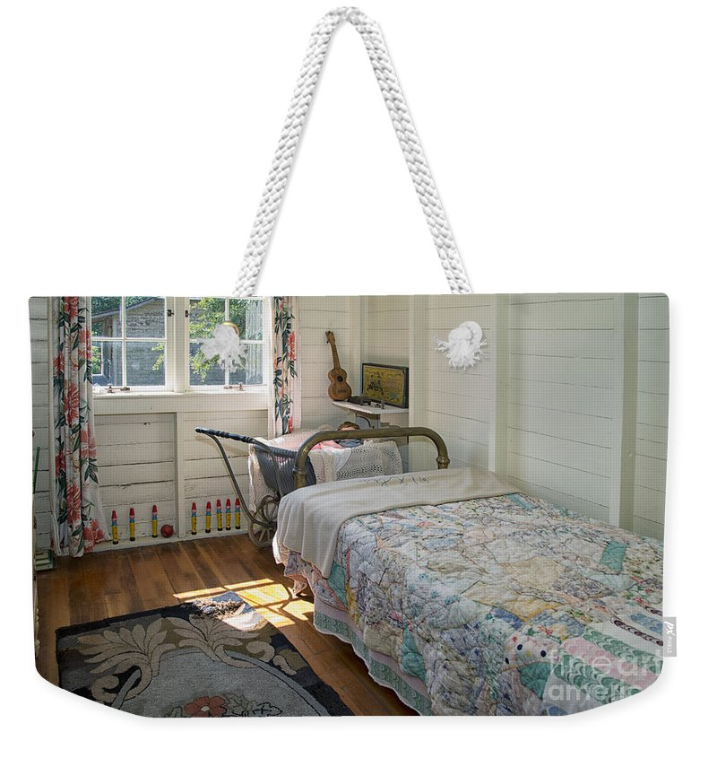 Bedroom Weekender Tote Bag featuring the digital art Heritage Cottage Museum On Bowen Island by Carol Ailles