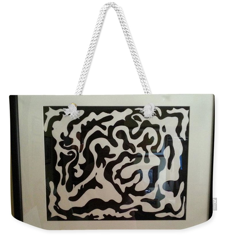 Framed Artwork Weekender Tote Bag featuring the painting Holding Hands by Myrtle Joy