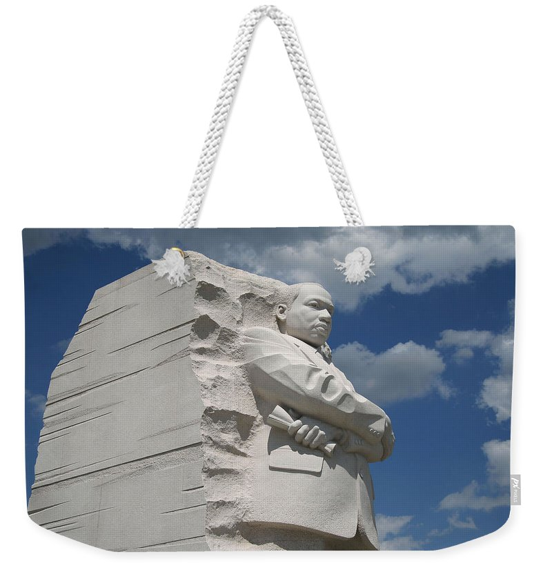 Martin Weekender Tote Bag featuring the photograph Honoring Martin Luther King by Cora Wandel