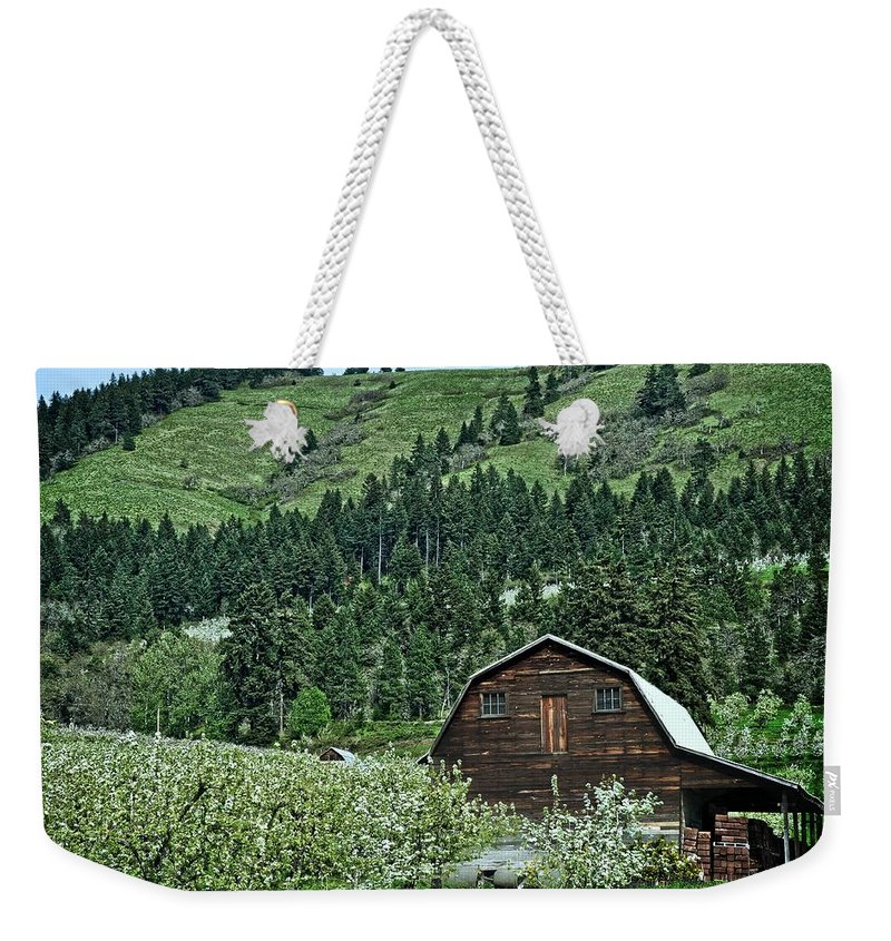 Hood River Weekender Tote Bag featuring the photograph Hood River by Image Takers Photography LLC