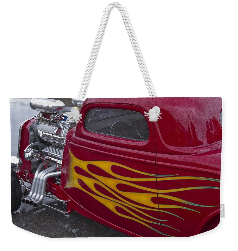 American Weekender Tote Bag featuring the photograph Hot Dual by Jack R Perry