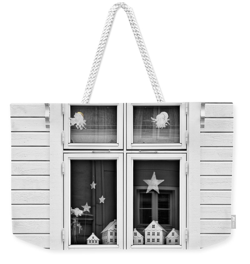 House Weekender Tote Bag featuring the photograph Houses And Windows by Dave Bowman