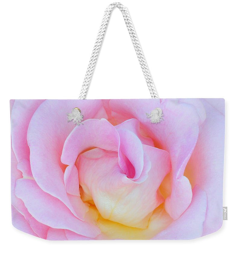Rose Weekender Tote Bag featuring the photograph In Pink by Dave Mills