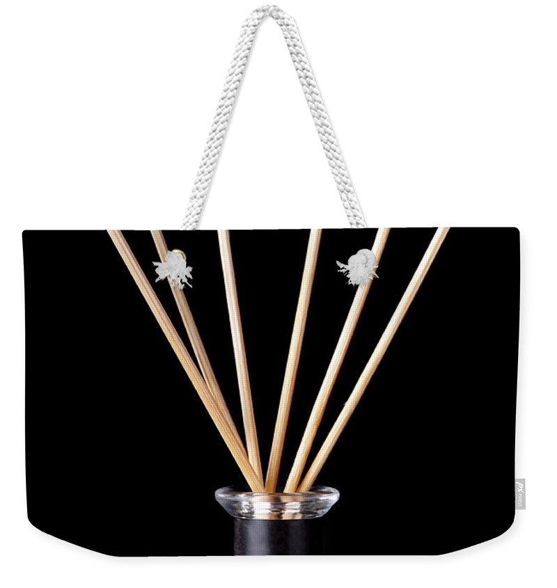 Accessories Weekender Tote Bag featuring the photograph Incense Sticks by Tim Hester