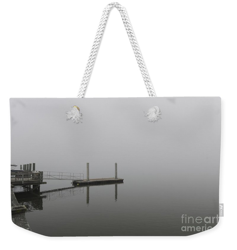 Fog Weekender Tote Bag featuring the photograph Into The Fog by Dale Powell