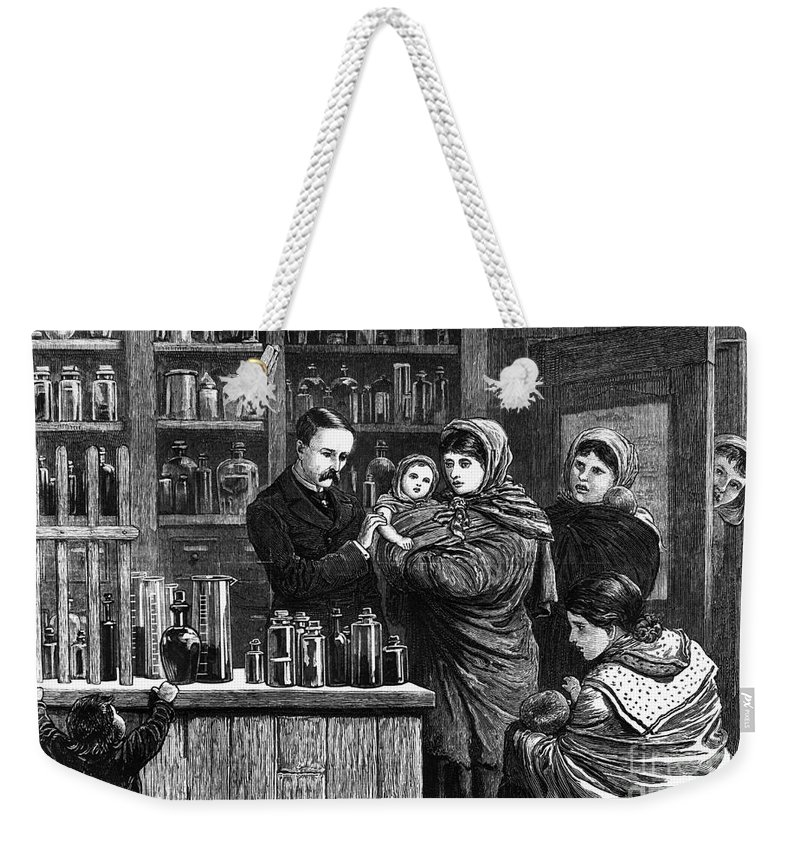 1880 Weekender Tote Bag featuring the photograph Ireland: Vaccination, 1880 by Granger