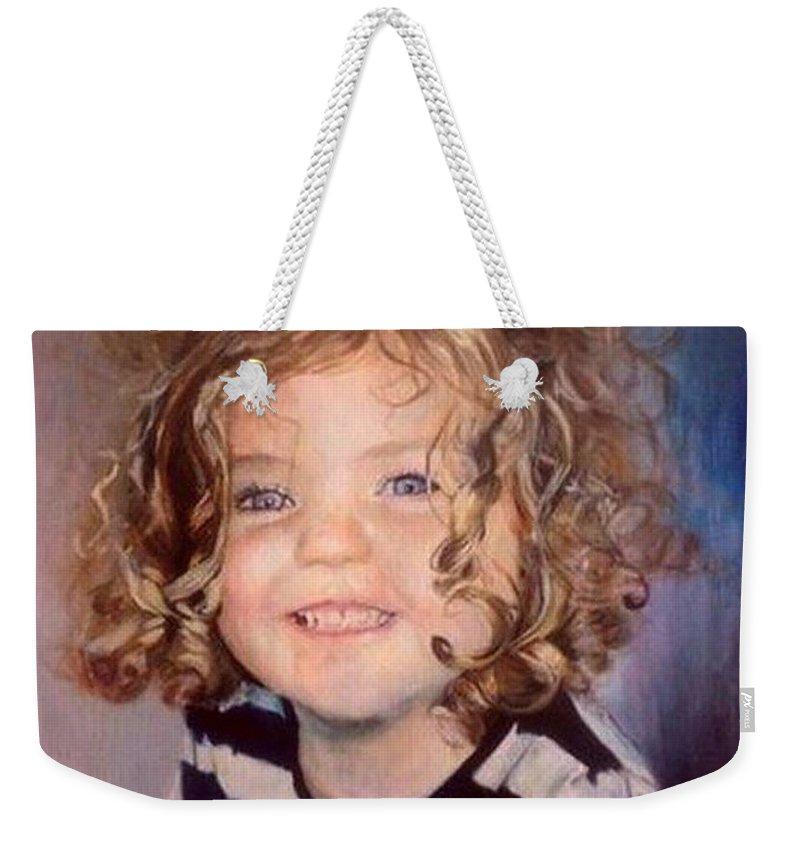 Toddler Weekender Tote Bag featuring the painting Irish Eyes by Siobhan Lewis
