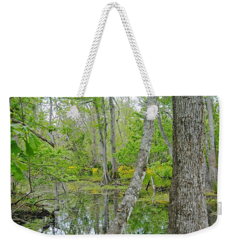 National Preserve Weekender Tote Bag featuring the photograph Jean Lafitte Swamp by Lizi Beard-Ward